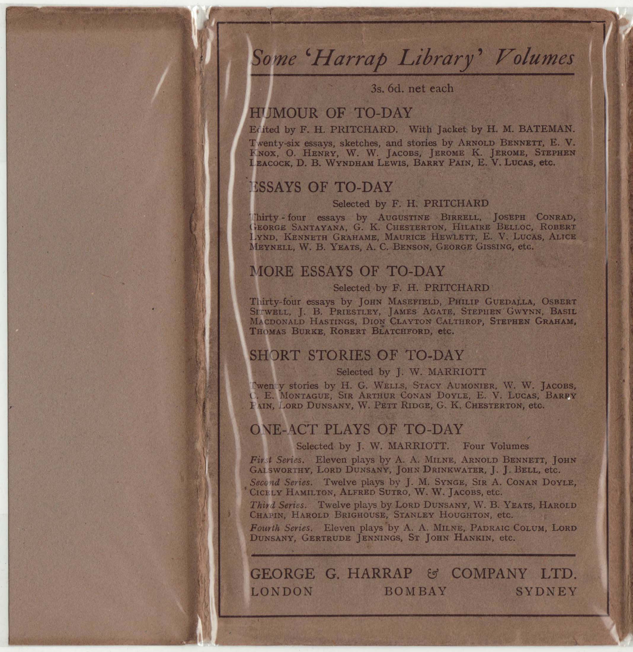 harrap library a series of series harraplib 1925 djback